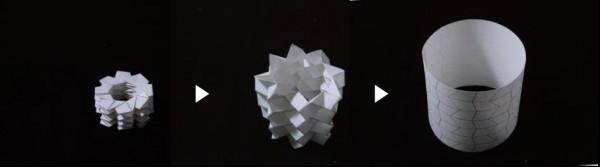 ソガメ折り展開過程図